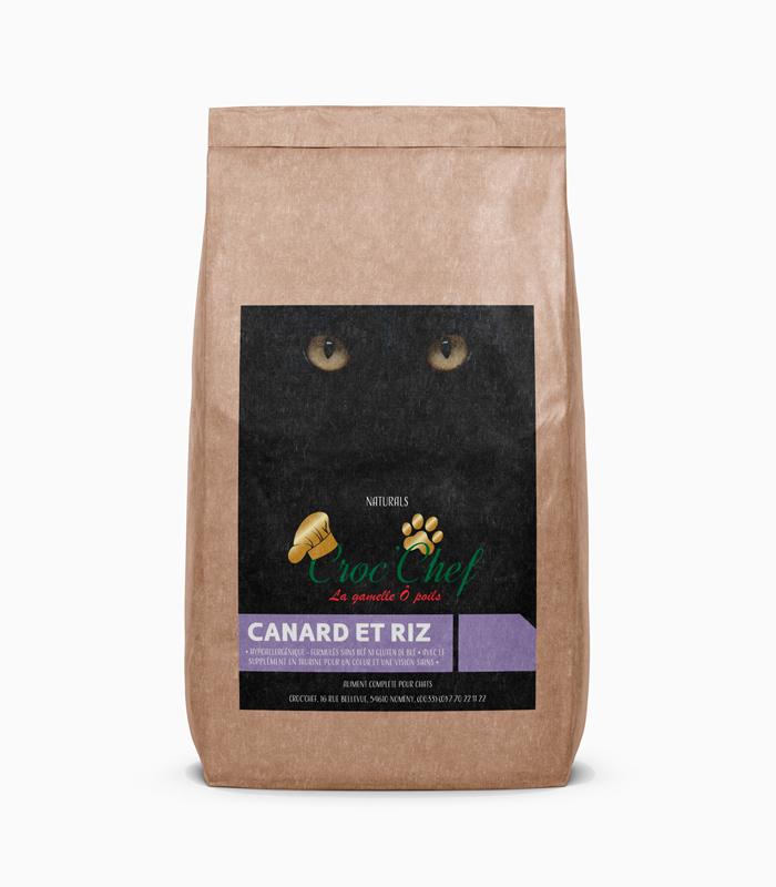 Croquette kraft chat canard riz